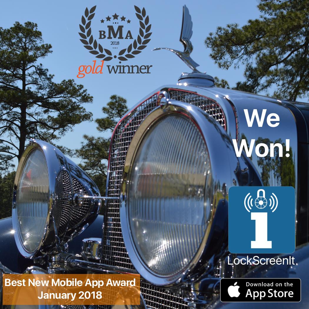 LockScreenIt wins Gold Award in the